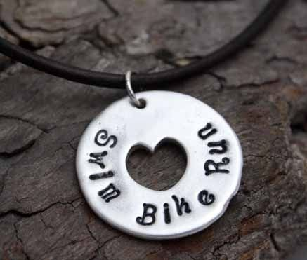 Custom Made Fine Silver - Circle Of Life Heart Necklace