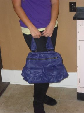 Custom Made Matria Purple Luxury Sheepskin Framed Handbag