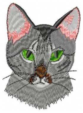 Custom Made Tabby Cat Embroidery Design