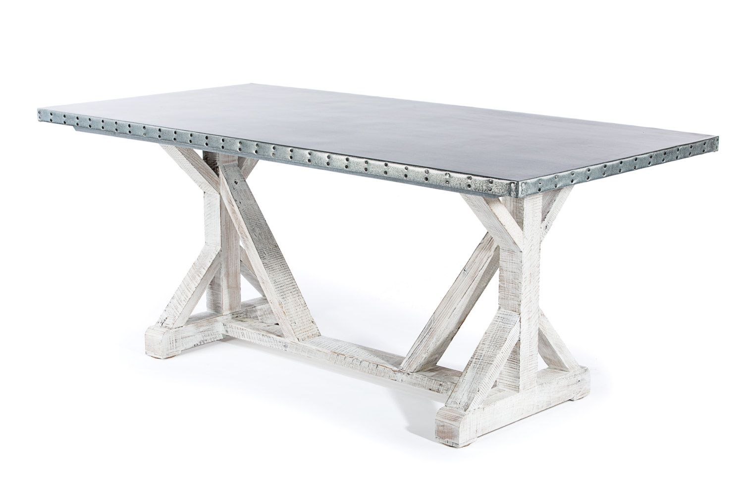 Zinc Dining Table French Buy A Custom Made Zinc Table Zinc Dining Table French Trestle