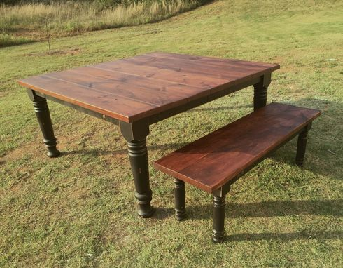 Custom Made Square Farmhouse Dining Room Table