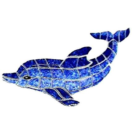 Custom Made Figures Of Dolphins Hand Crafted Ceramic Tiles For Pools