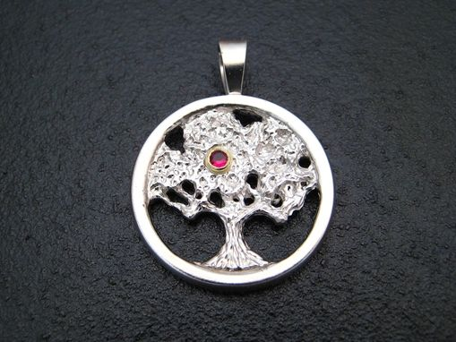 Custom Made Sterling Silver Tree Of Wisdom Pendant