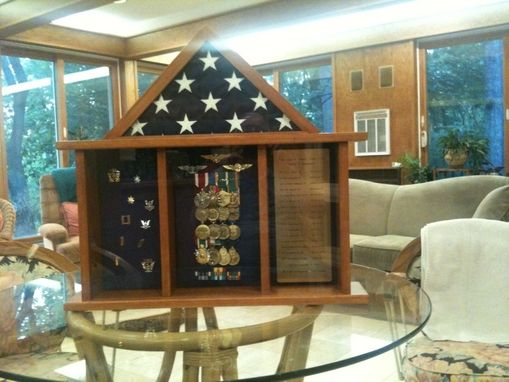 Custom Made Military Retirement Shadow Box
