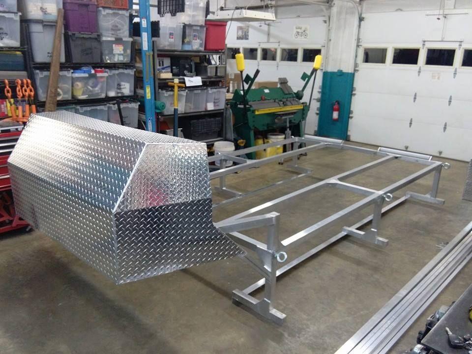 Aluminum Boat Racks : Hand made custom vehicle fabrication aluminum boat rack