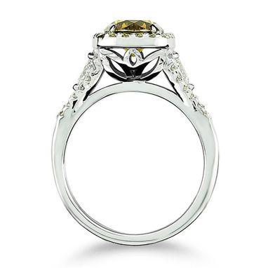 Custom Made Cognac Diamond Engagement Ring