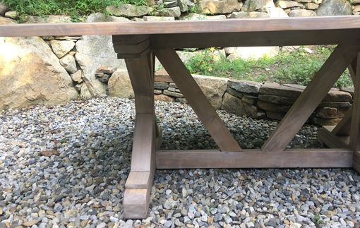 Custom Made Custom Farmhouse Rustic Trestle Tables