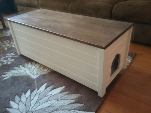 Custom Made Liter Box Bench