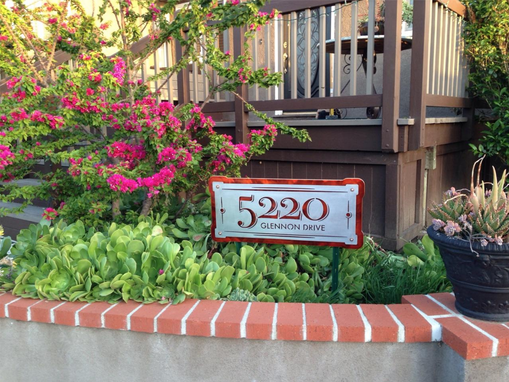 Custom Made Custom Home Address Sign