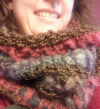 Custom Made Tunisian Crochet Multi-Fiber Cowl