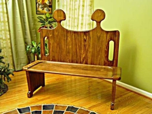 Custom Made Conversation Seat - Signature Wooden Bench