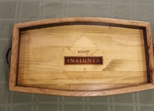 Custom Made Wine Crate Serving Tray- Insignia