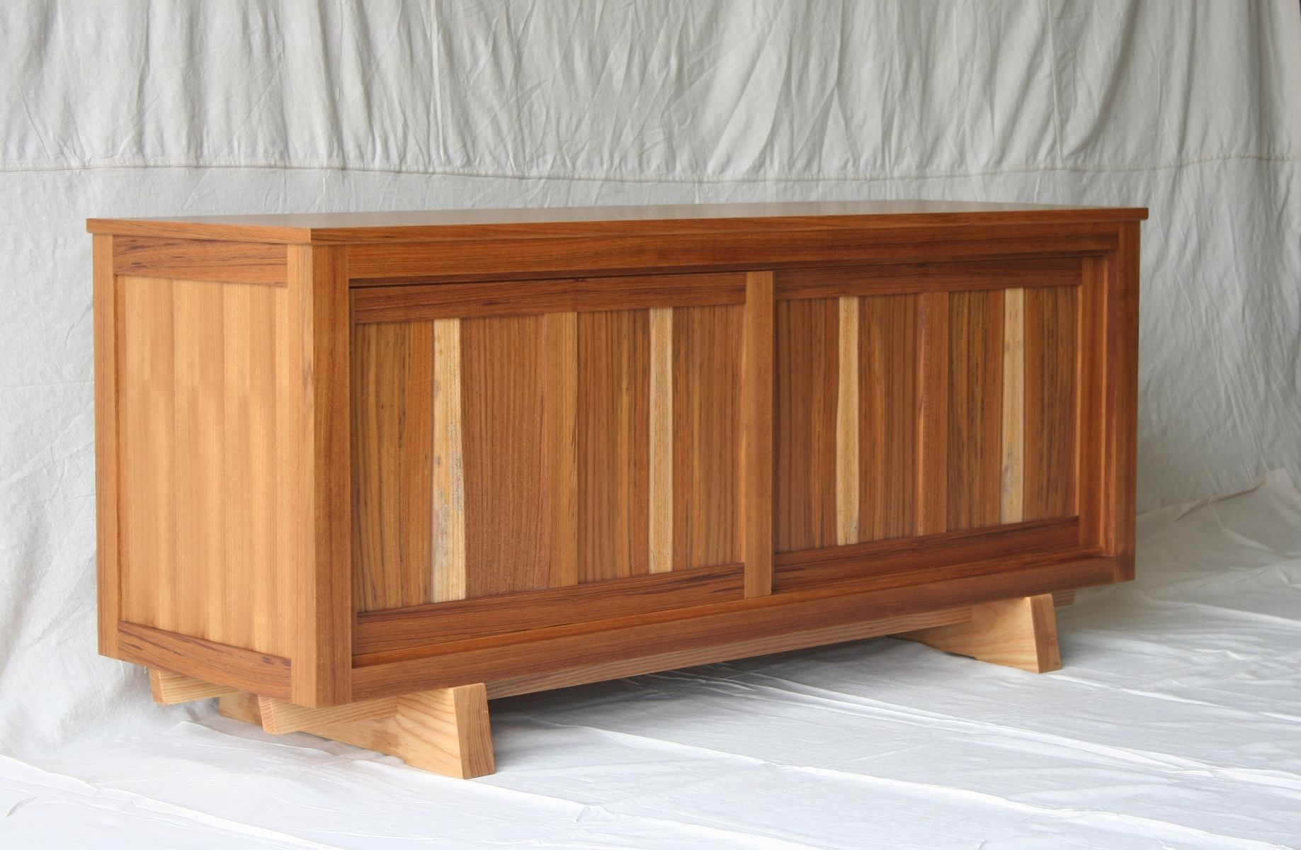hand made teak tv console cabinet by natural mystic woodwork. Black Bedroom Furniture Sets. Home Design Ideas