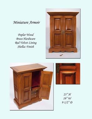 Custom Made Miniature Armoire Collector's Cabinet