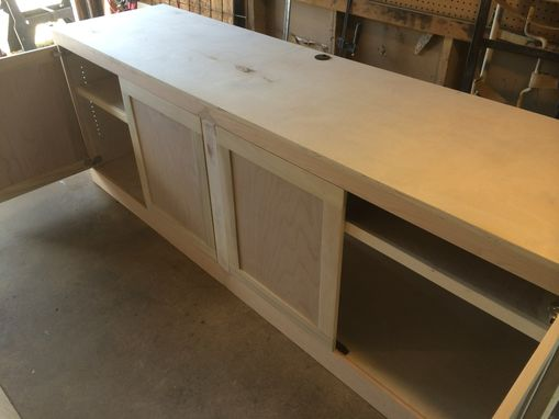 Custom Made Build-In Shelving And Base Cabinet
