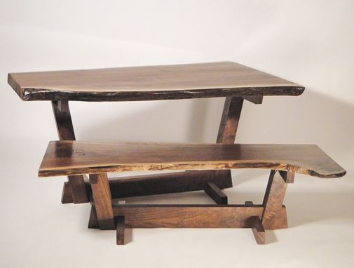 Custom Made Nakashima Style Live Edge Dining Table