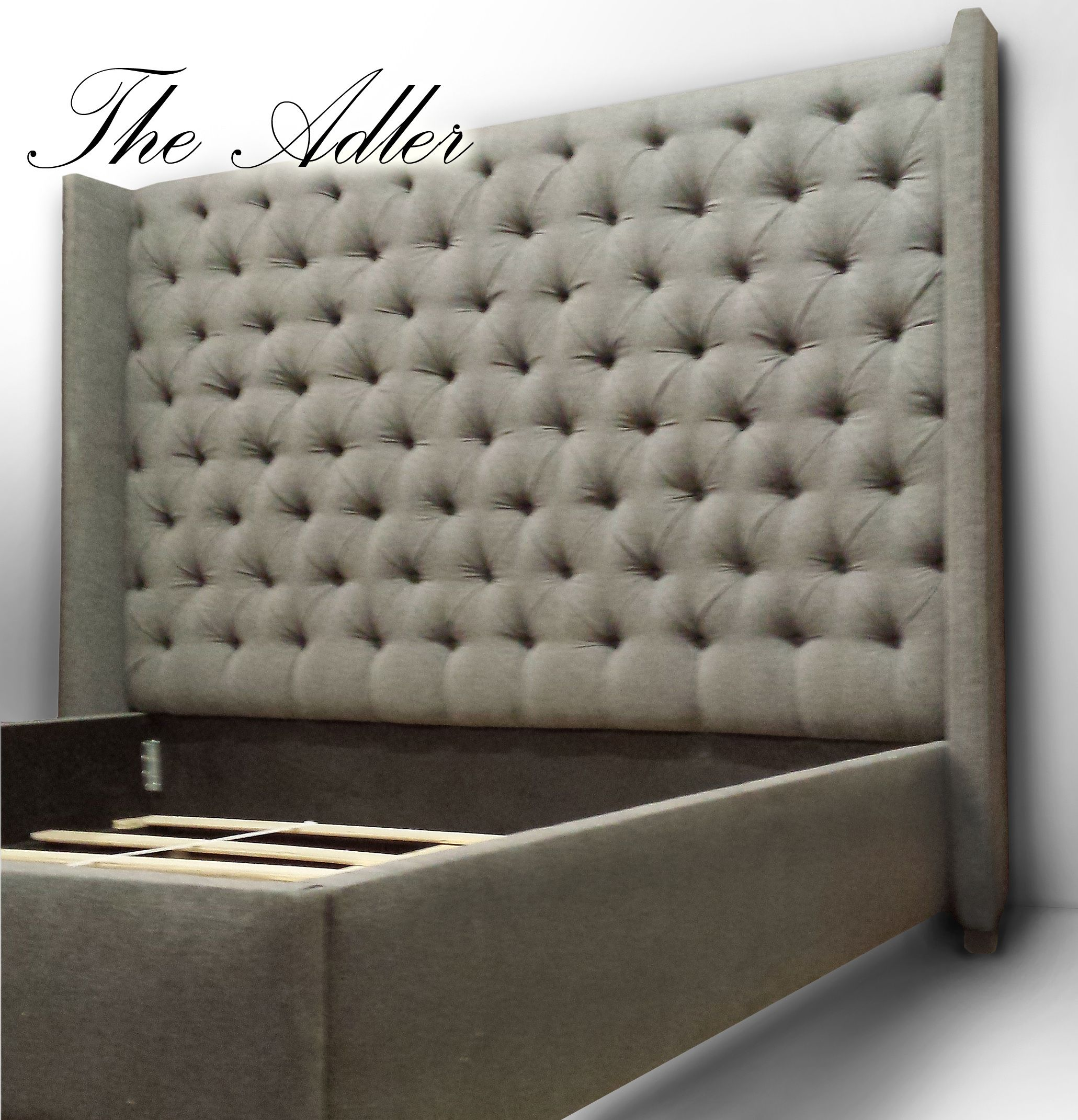 tufted queen marvelous bedroom for wingback design your awesome beige nailhead linen upholstered trim with bed light