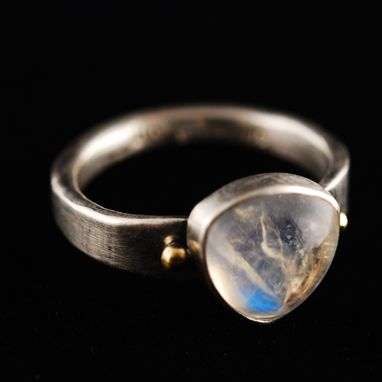 Custom Made Moonstone In Silver And Gold