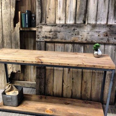 Custom Made Reclaimed Wood Console Table