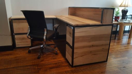 Custom Made Maple & Steel Reception Station