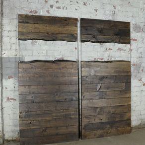 Custom Modern Live Edge Wood And Resin Barn Door By