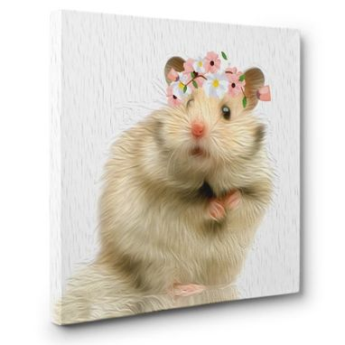 Custom Made Hamster Canvas Wall Art