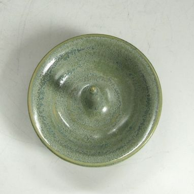 Custom Made Pottery Ring Holder In Green
