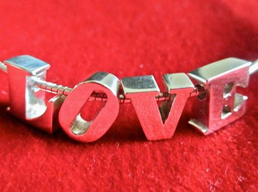 Custom Made Sterling Silver Love Letters Necklace