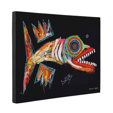 Custom Made Fish Canvas Wall Art By Matt Sesow