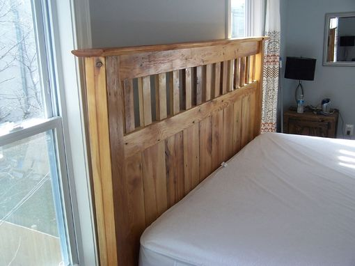 vintage reclaimed wood mission style bed frame