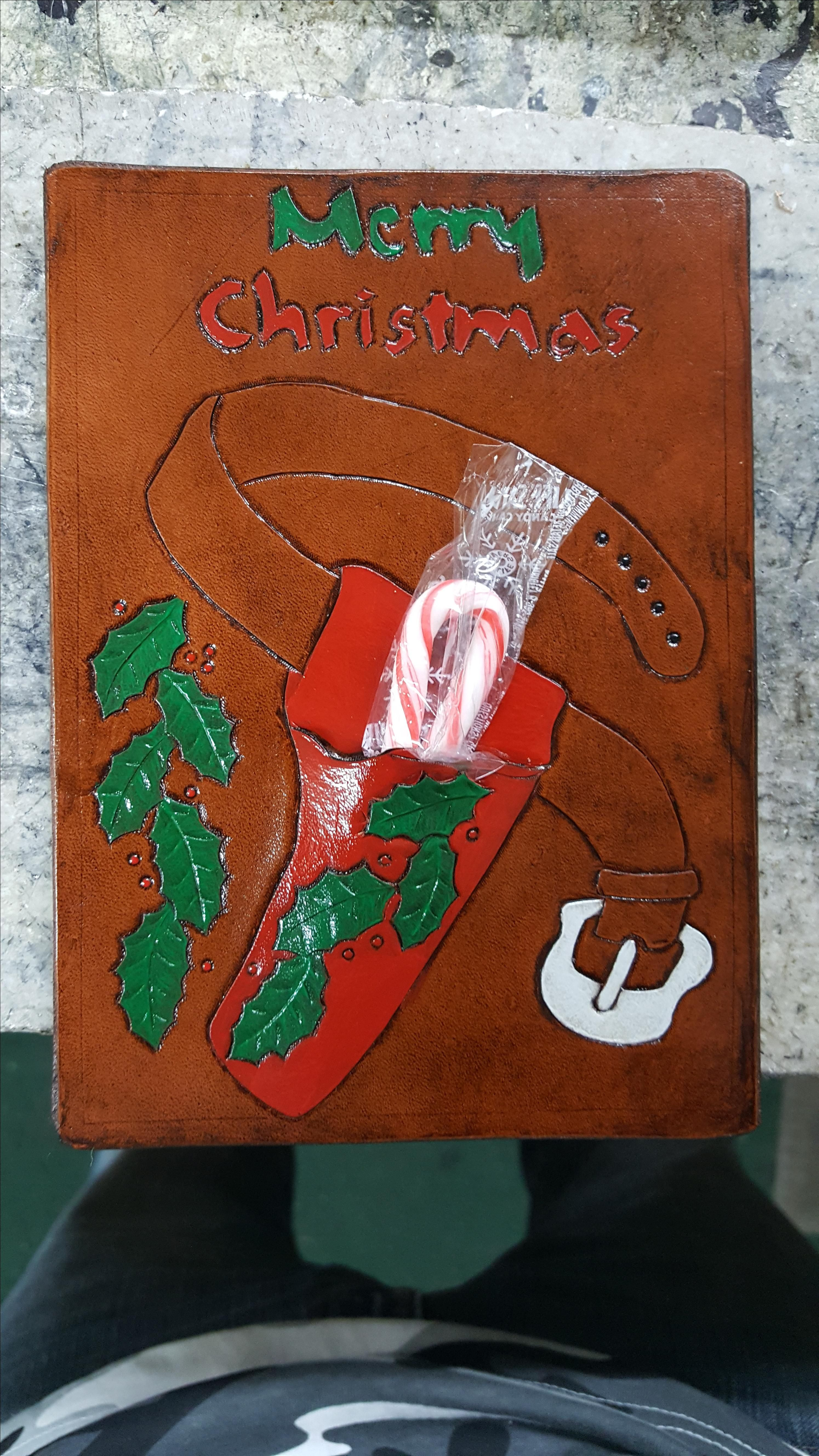 Buy a Handmade Leather Christmas Card, 2017 Edition, made to order ...