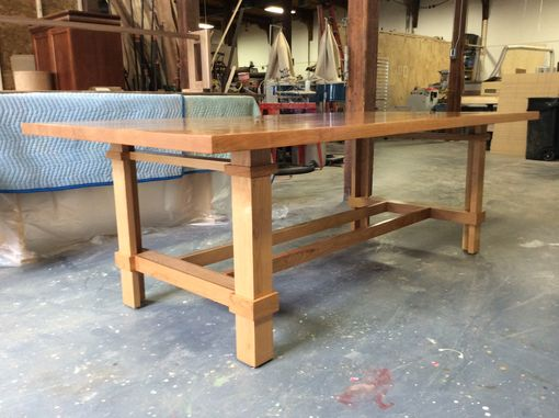 Custom Made Cherry Dining Or Conference Table, Custom=Made