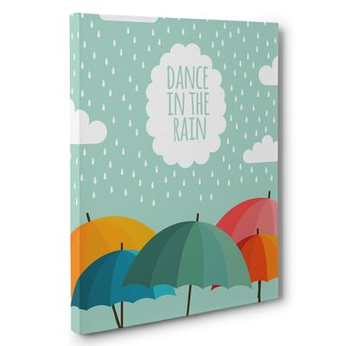 Custom Made Dance In The Rain Canvas Wall Art