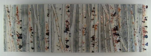 Custom Made Into The Woods-Birch - Glass Fusing Artwork