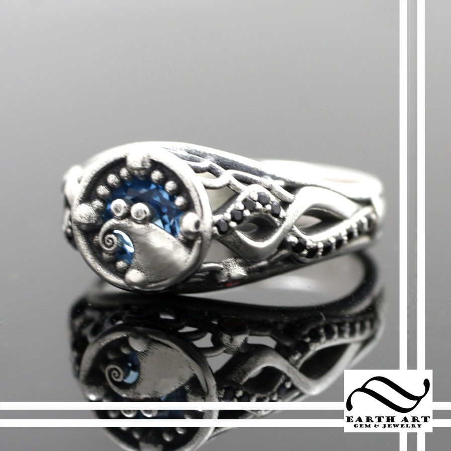 custom made when jack met sally nightmare engagement ring - Steampunk Wedding Rings