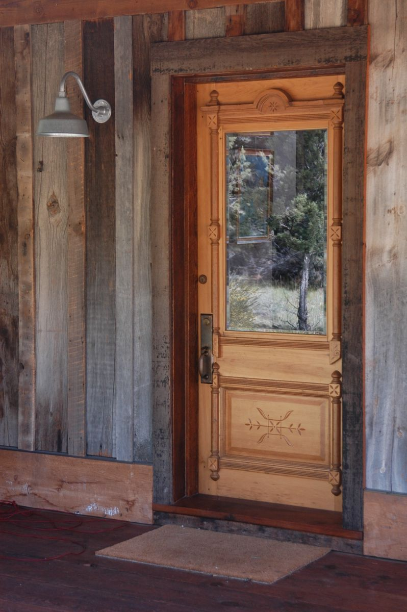 Hand Crafted Salvaged Entry Door And Frame By Jetwoodshop
