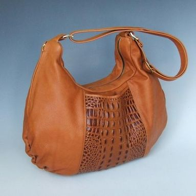 Custom Made Michelle Large Brown Leather Purse