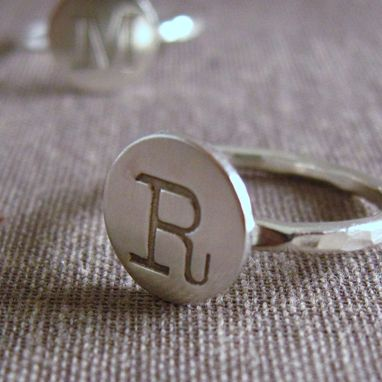 Custom Made Sterling Initial Ring