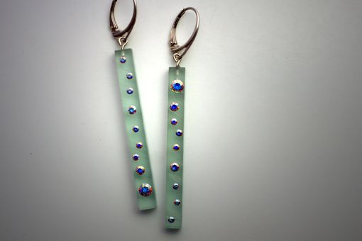 Custom Made Lucite Ice Cicle Earrings