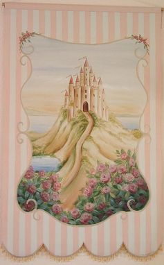 Custom Made Children's Canvas Wall Hanging-Princess Theme