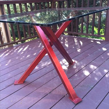 Custom Made Oblique Beam Table - Indoor/Outdoor Table