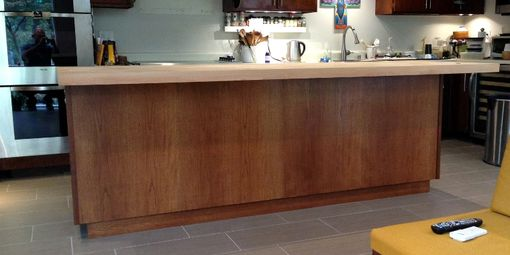 Custom Made Custom Kitchen Island With Butcher Block Top
