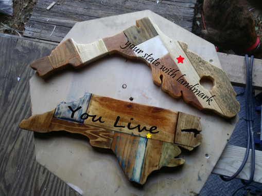 Custom Made State Shaped Cutting Boards And Signs From $35