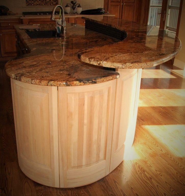 hand crafted radius kitchen island by belak woodworking hand crafted custom kitchen island by against the grain