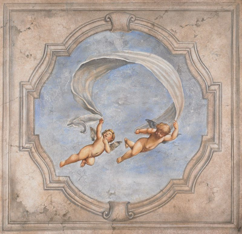Buy A Custom Made Renaissance Cherubs Mural Made To Order From Bonnie Lecat Designs