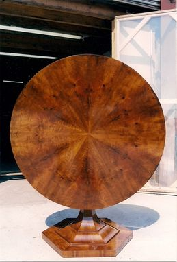 Custom Made Biedermeier Tilt Top Center Table