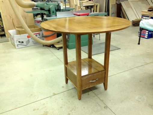 Custom Made Oak High Bar Table