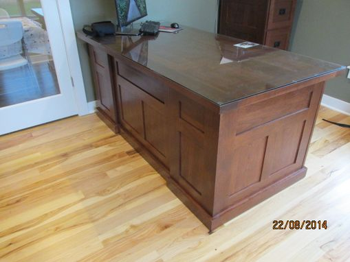 Custom Made Cherry Mission Style Executive Office Desk