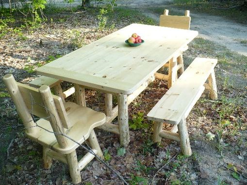 Custom Made Rustic Dining Set