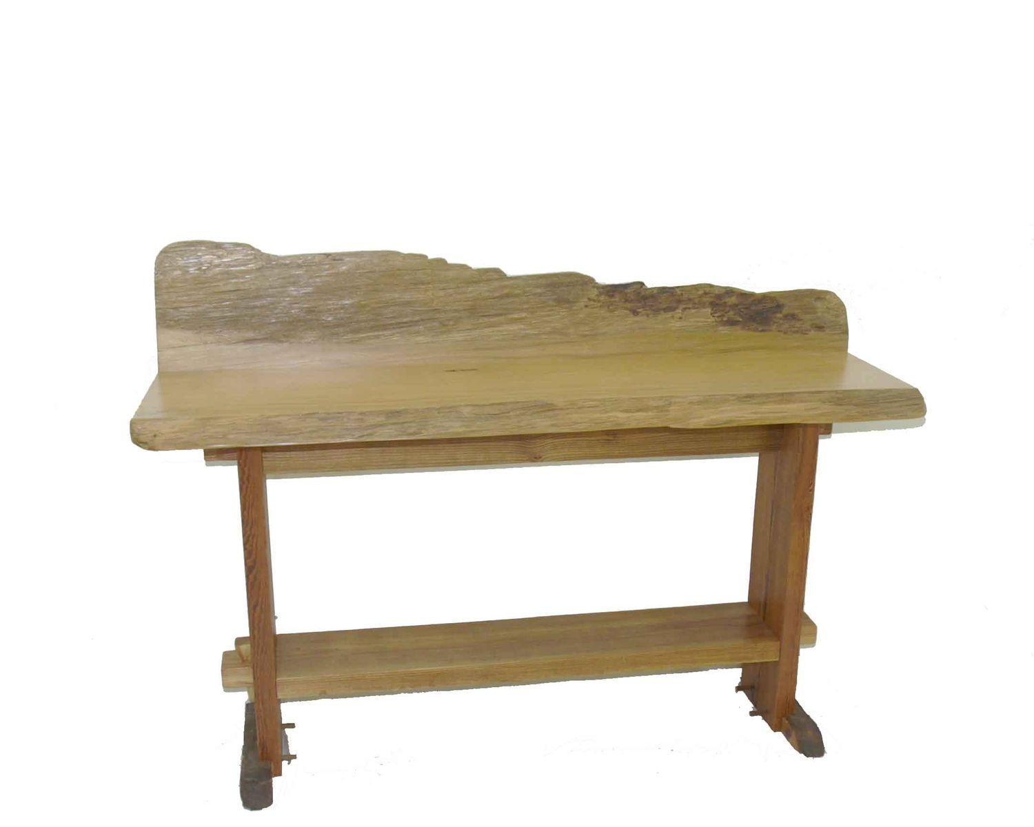 Hand Made Live Edge Cypress Reception Table By Difilippo